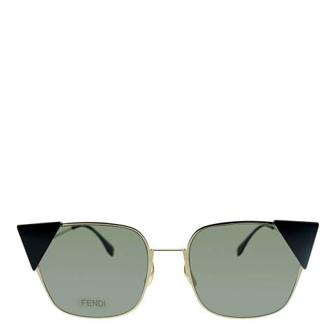 Fendi Women's Light Gold Lei Sunglasses 55mm