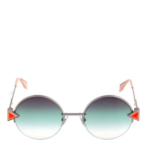 Fendi Women's Silver/Orange Rainbow Sunglasses 51mm