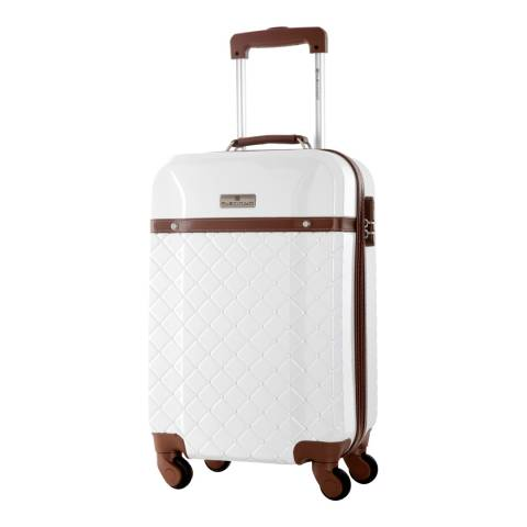 Platinium White Trendy 4 Wheeled Suitcase 70cm