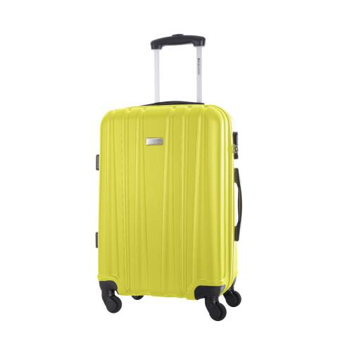 Platinium Yellow Akina 4 Wheeled Suitcase 56cm