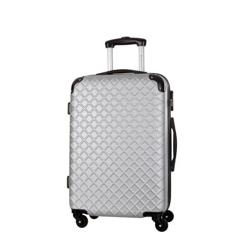 Platinium Silver Sifnos 4 Wheeled Cabin Suitcase 46cm