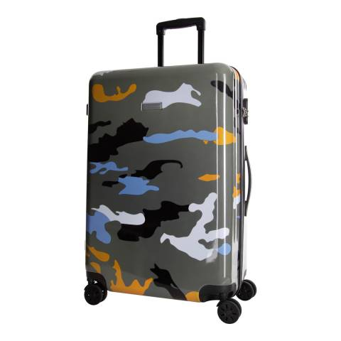 Platinium Orange Marshall 8 Wheeled Suitcase 70cm