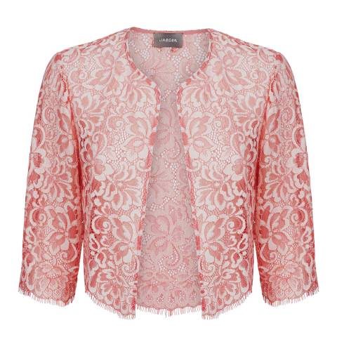 Jaeger Pink Ombre Lace Jacket