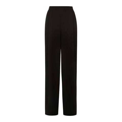 Jaeger Black Wide Leg Crepe Trouser