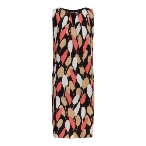 Jaeger Black/Pink Floral Print Dress