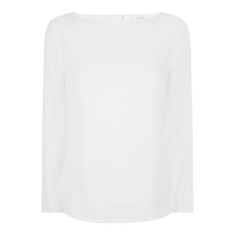 Jaeger Cream Crepe Top