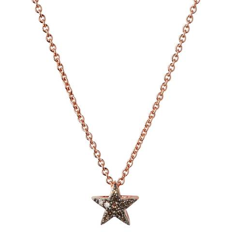 Links of London Rose Gold/Smoke Dia Essential Star Necklace