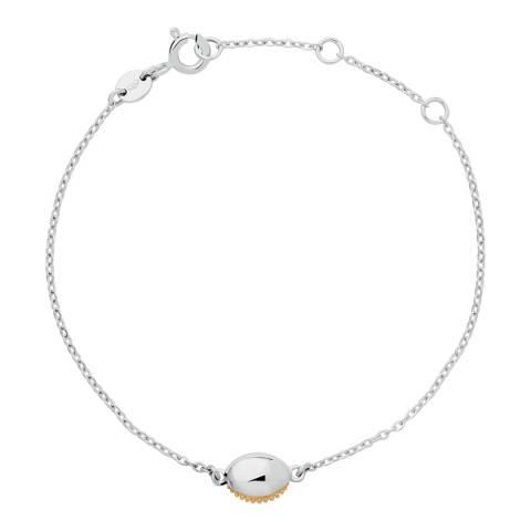 Links of London Silver/Yellow Gold Masquarade Oval Bracelet