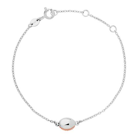 Links of London Silver/Rose Gold Masquarade Oval Bracelet