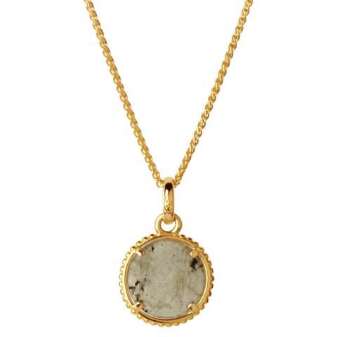 Links of London Yellow Gold Amulet & Labradorite Necklace