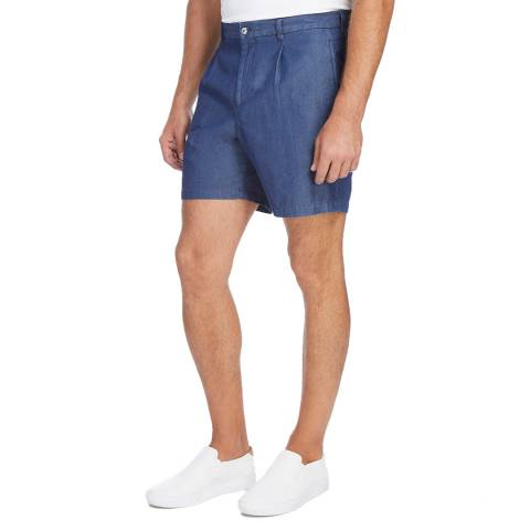 Kent & Curwen Denim Cotton Rugby Shorts