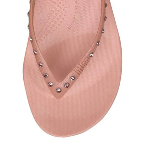 FitFlop Dusky Pink Crystal iQushion Ergonomic Flip Flops