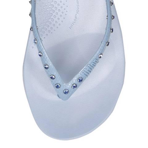 FitFlop Powder Blue Crystal iQushion Ergonomic Flip Flops