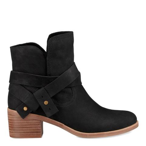 UGG Black Suede Elora Ankle Boots