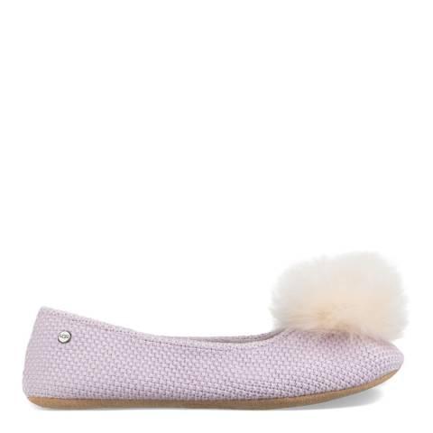 UGG Lavender Fog Knit Andi Ballet Slippers