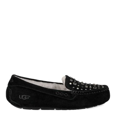 UGG Black Suede Ansley Studded Bling Slippers