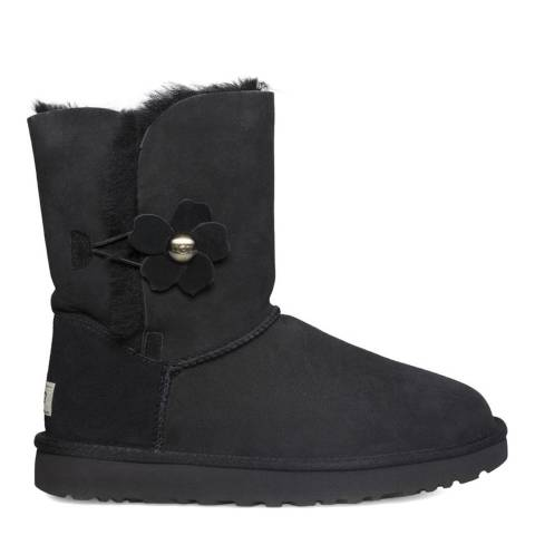 UGG Black Sheepskin Bailey Button Poppy Boots