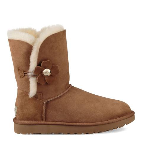 UGG Chestnut Sheepskin Bailey Button Poppy Boots