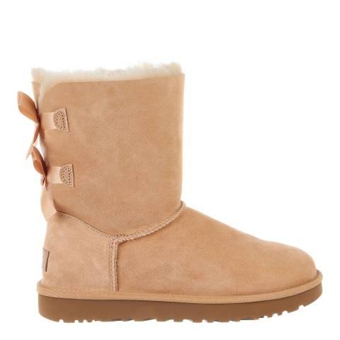 UGG Soft Ochre Sheepskin Bailey Bow II Boots