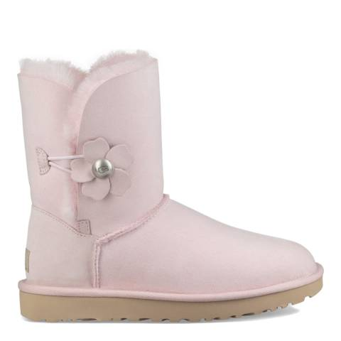 UGG Seashell Pink Classic Bailey Button Poppy Boots