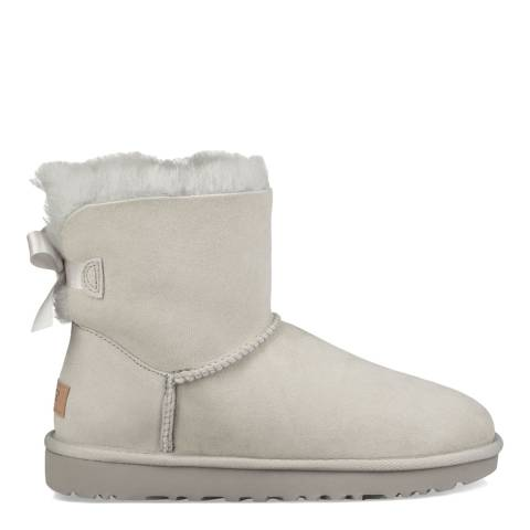 UGG Grey Violet Suede Mini Bailey Bow II Boots