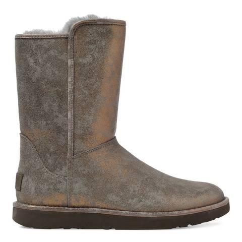 UGG Gunmetal Metallic Suede Abree Short II Stardust Boots