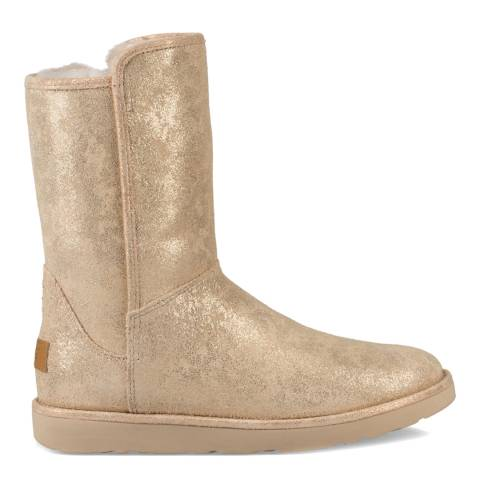 UGG Metallic Gold Suede Abree Short II Stardust Boots