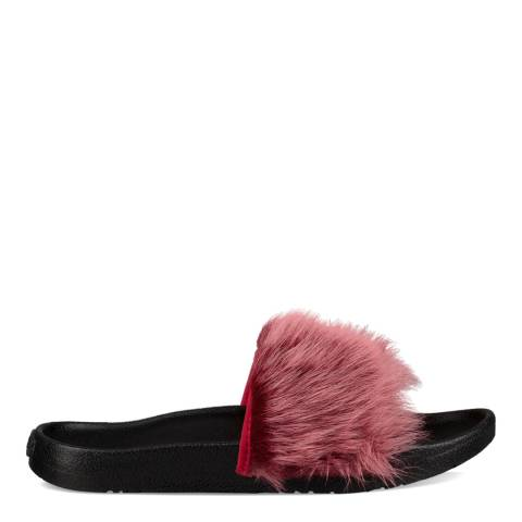 UGG Brambleberry Pink Sheepskin Royale Tipped Slides