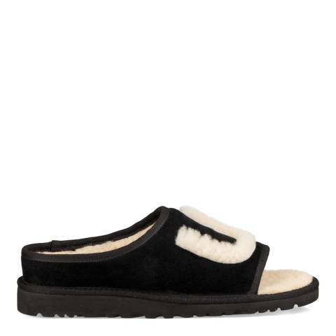 UGG Black/Natural Suede UGG Slides