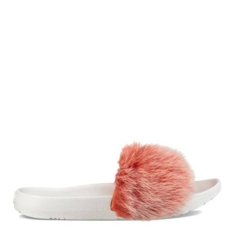 UGG Fusion Coral Sheepskin Royale Tipped Slides