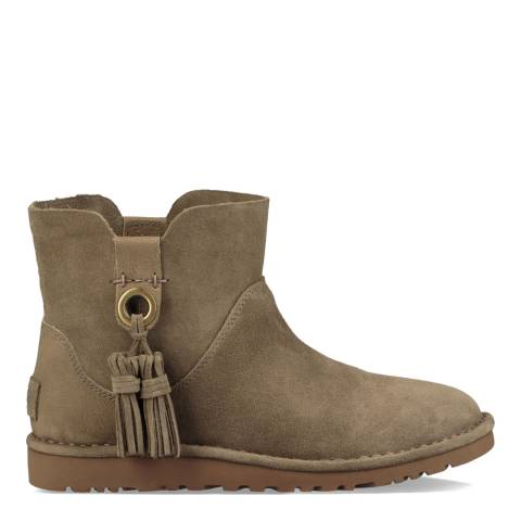UGG Taupe Gib Suede Unlined Ankle Boot