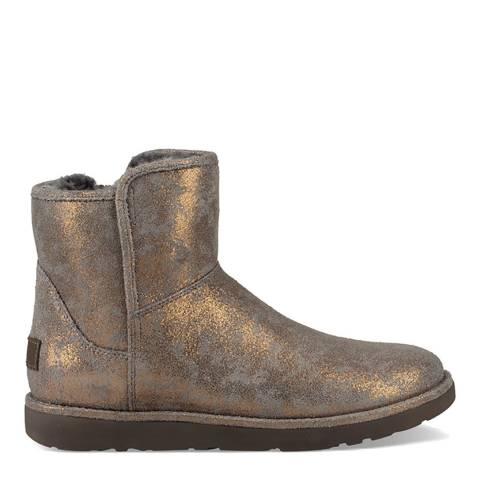UGG Gunmetal Metallic Suede Abree Mini Stardust Boots