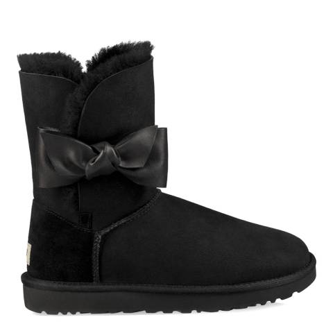 UGG Black Suede Sheepskin Daelynn Boots