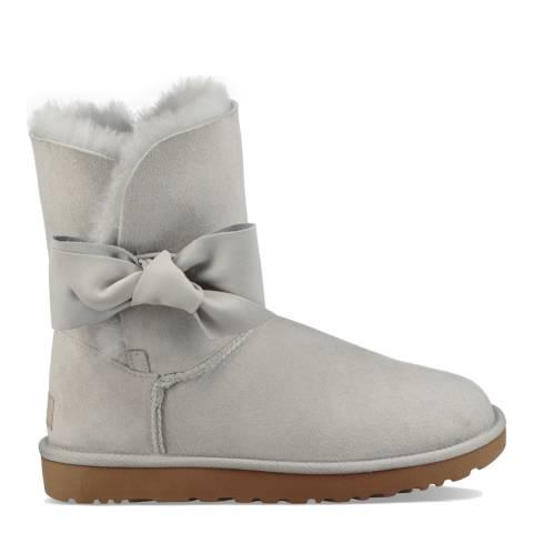 UGG Grey Suede Sheepskin Daelynn Boots