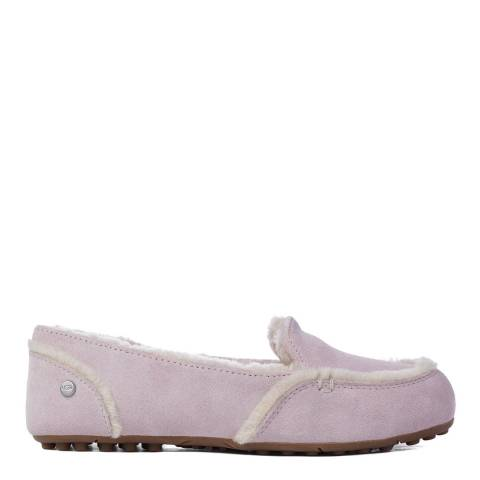 UGG Seashell Pink Suede Hailey Loafers