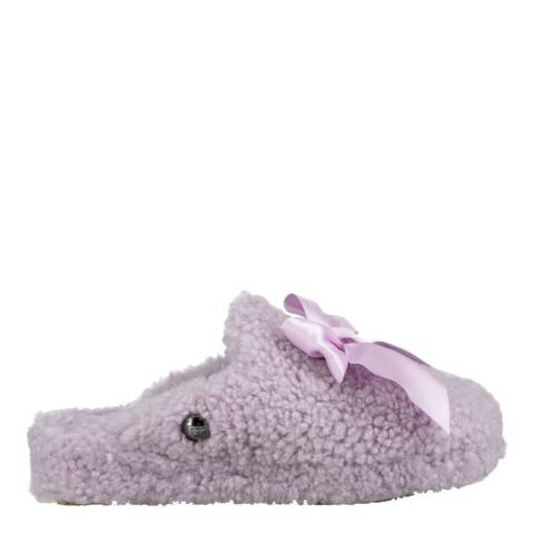 UGG Lavender Fog Curly Sheepskin Addison Slippers