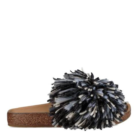 UGG Black/White Suede Yarn Cindi Slides