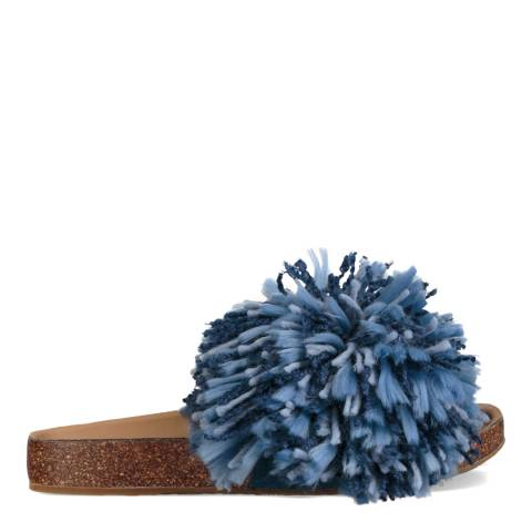 UGG Dark Denim Suede Yarn Cindi Slides