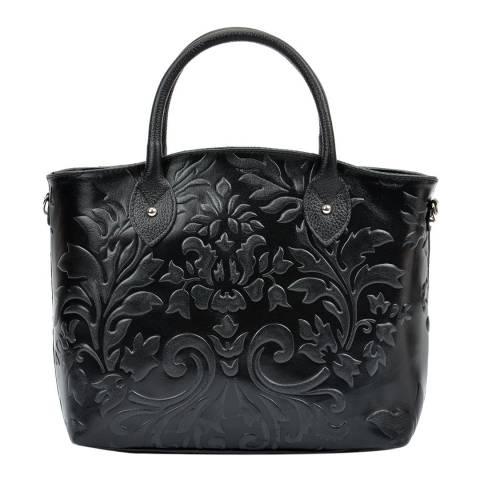 Renata Corsi Black Leather Top Handle Bag