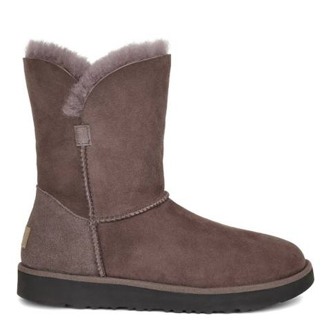 UGG Stormy Grey Sheepskin Classic Cuff Short Boots