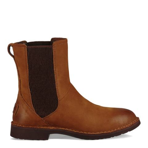 UGG Chestnut Nubuck Leather Larra Chelsea Boots