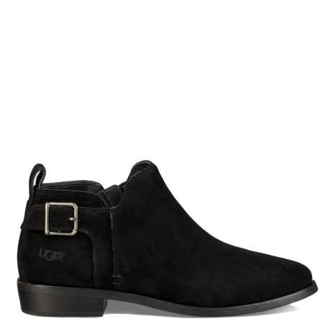 UGG Black Suede Kelsea Ankle Boots
