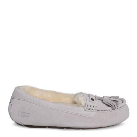 UGG Grey Lilac Sheepskin Litney Tassel Slippers