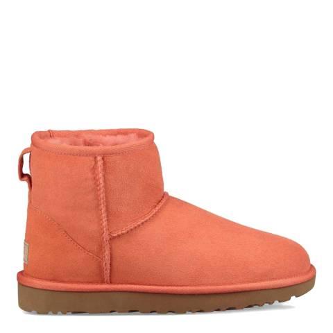 UGG Vibrant Coral Sheepskin Classic Mini II Boots