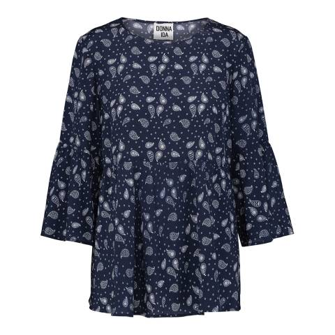 Donna Ida Hello Sailor Paisley Park Grown Up In Chelsea Silk Top