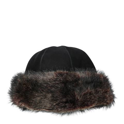 Laycuna London Black Suede Marmotta Hat