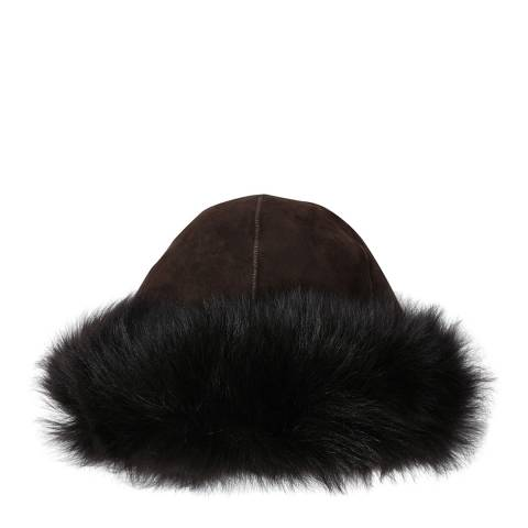 Laycuna London Choc Suede Marmotta Tone on Tone Hat