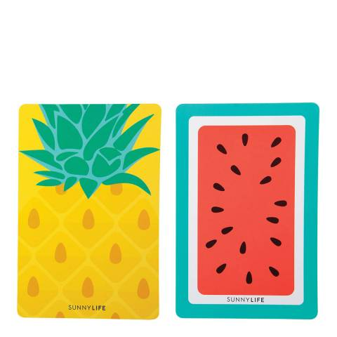 Sunny Life Pineapple & Watermelon Playing Cards