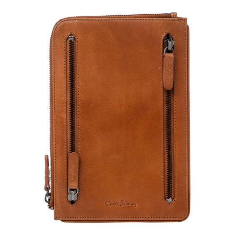 Oliver Sweeney Nares Tan 4 Zip Currency Wallet