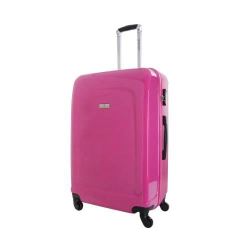 Platinium Fuchsia Clarks 4 Wheeled Suitcases 60 cm